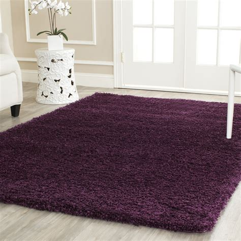 Safavieh Navy Rug by Safavieh Power Loomed Purple Plush Shag Area Rugs Sg151