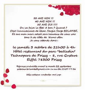 Faire Part Anniversaire 50 Ans : texte invitation anniversaire 50 ans minimalist ~ Edinachiropracticcenter.com Idées de Décoration
