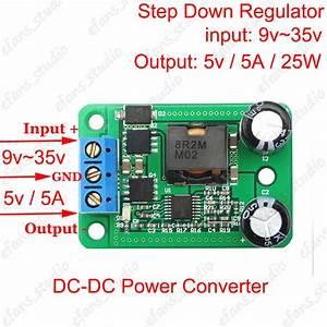 Dc 24v To 5v 5a 25w Buck Converter Step