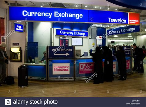 bureau of change bureau de change office operated by travelex at heathrow