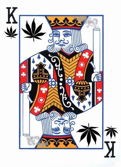Cannabis Weed King Marijuana Playing 420 Card