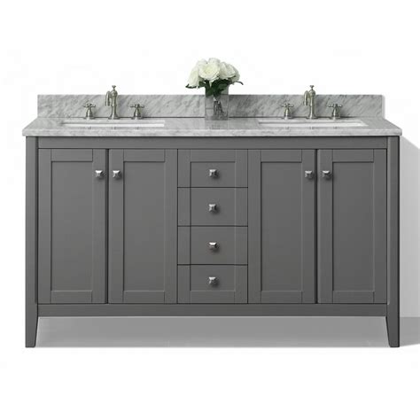 gray double sink vanity shop ancerre designs shelton sapphire gray undermount