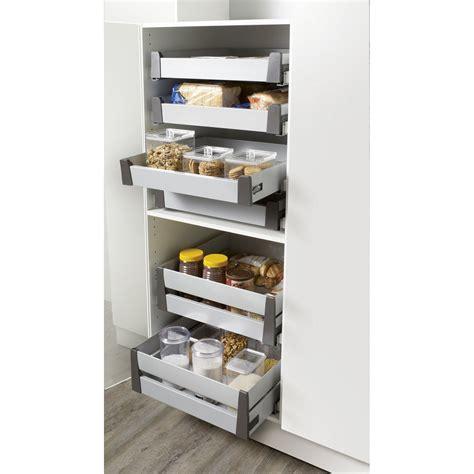 tiroir cuisine coulissant tiroir à l 39 anglaise hauteur pour meuble l 40 cm delinia leroy merlin