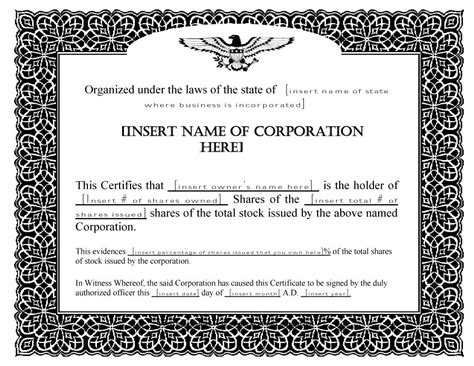 stock certificate template 41 free stock certificate templates word pdf free template downloads