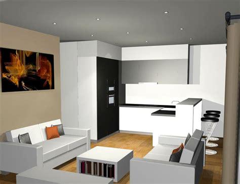 salon et cuisine davaus decoration cuisine salon aire ouverte avec