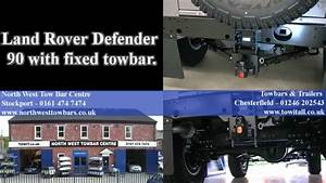 Land Rover Defender 90 With A Fixed Towbar