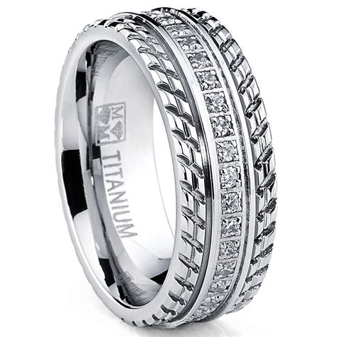 mens or womens eternity t titanium lcs diamond wedding band ring sz 10 gift ebay