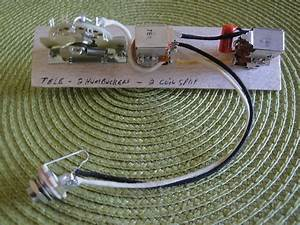 Telecaster Hh Wiring Harness Coil Split 2 Push  Pull Pots