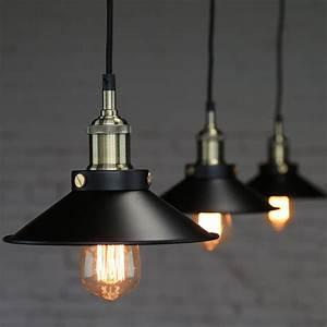 Luminaire Style Industriel : industrial vintage pendant loft lampshade ceiling light chandelier lamp fixtures ebay ~ Teatrodelosmanantiales.com Idées de Décoration