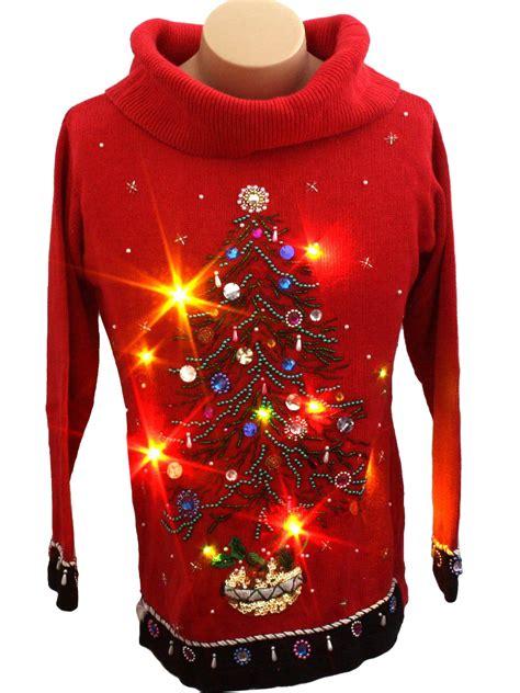 ugly light up christmas sweaters womens light up ugly christmas sweater victoria jones