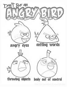 Coloring Angry Birds Anger Management