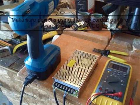 battery drill  corded    convert youtube