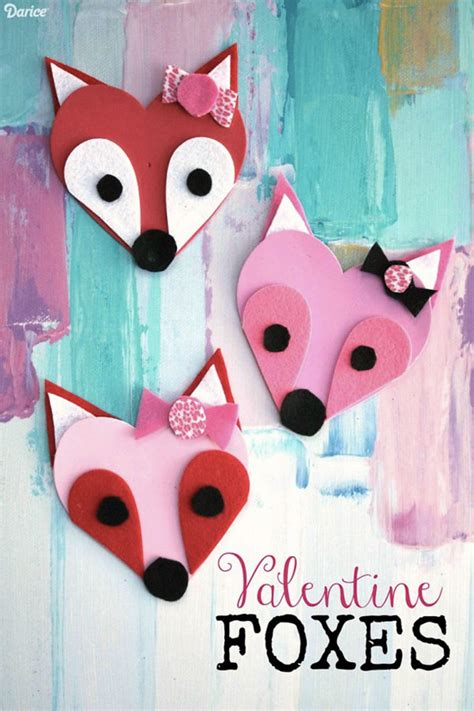 10 easy crafts for diy projects to try 630 | valentine crafts foxes