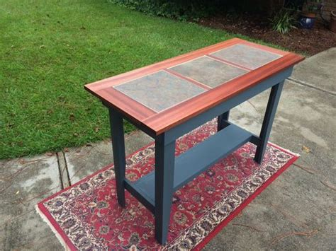ceramic tile kitchen tables buy a crafted console table with inlaid ceramic tile 5202
