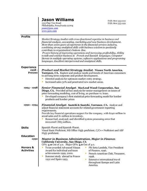 Effective Resume Formats by Best Resume Format 6 Resume Cv Design Best Resume