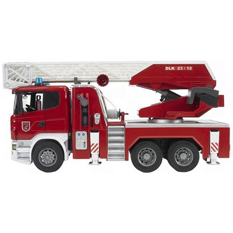 bruder fire truck bruder deluxe toy fire truck scania r series