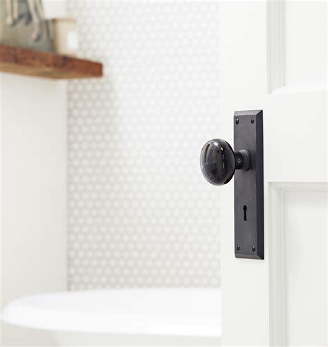 bedroom door knobs putman black porcelain knob interior door set rejuvenation