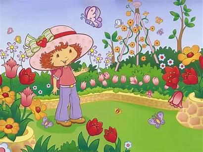 Cartoon Garden Strawberry Shortcake Night Characters Character