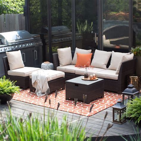 patio conversation sets coral coast south isle all weather wicker brown