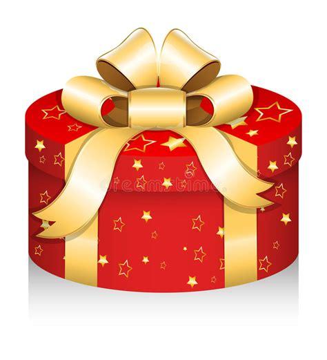 royal  gift box christmas vector illustration stock