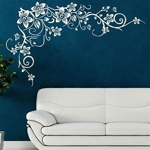 details about flower tree wall butterfly vine art stickers With wall art stencils
