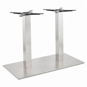 Pied De Table En Acier : double pied de table rambou en acier bross 50cmx100cmx73cm ~ Teatrodelosmanantiales.com Idées de Décoration