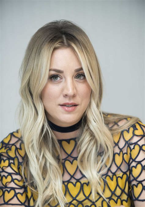 Kaley Cuoco Attends The Big Bang Theory Press Conference
