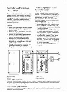 Nexus Design Tw004 Lcd Weather Station User Manual Tw004