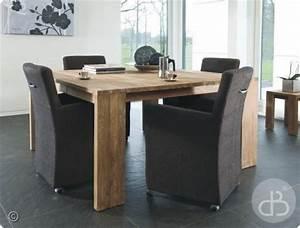 table de salle a manger carree avec rallonge dategueste With idee deco cuisine avec table sejour carrée avec rallonge
