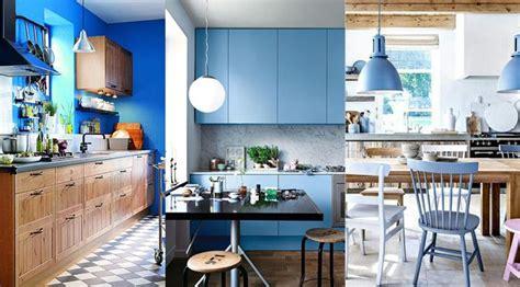 peinture cuisine bois cuisine bleu 25 idées déco cuisine bleue