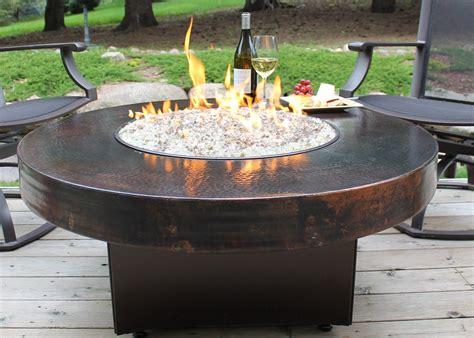 Tisch Mit Feuerstelle Gas by Hammered Copper 42 Quot Oriflamme Table Gas