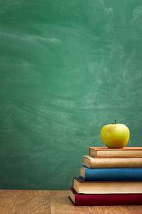 School, Books, With, Apple, On, Desk, Stock, Photo, -, Download, Image, Now