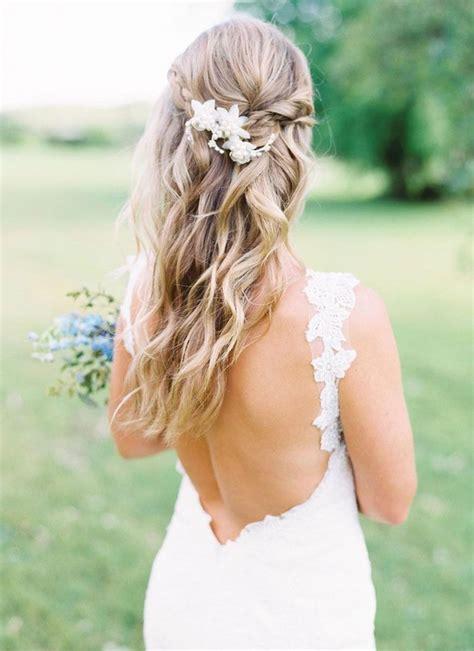 the most romantic bridal half up wedding hairstyles boda