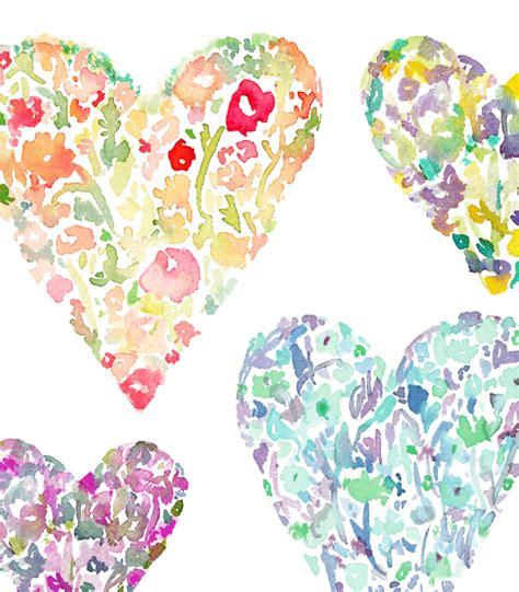 Watercolor Flower Clip Art Heart