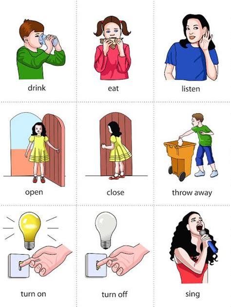 list  common verbs flashcard set english vocabulary