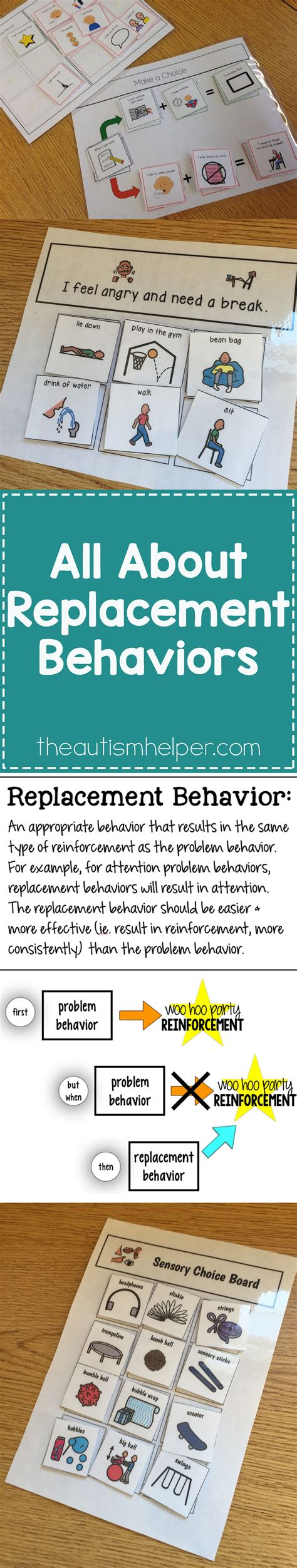 all about the replacement behavior autism awareness 822 | 63de87945312f458ed232ac3c038b14d