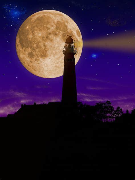 wallpaper bulan purnama romantis paimin gambar