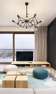 Black White and Wood Apartment with Turquoise touch - D ...