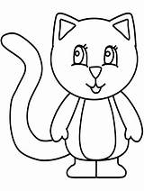 Coloring Pages Kitten Kittens Cute sketch template