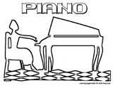 Musical Coloring Instrument Piano Harpsichord sketch template