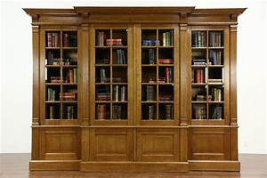SOLD French Oak 192039s Antique 1039 Library Bookcase