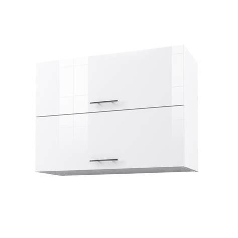 meuble haut blanc laque city meuble haut de cuisine l 80 cm blanc laqu 233 brillant achat vente 233 l 233 ments haut city
