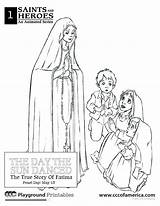 Coloring Lady Fatima Lourdes Rosary Books Template Catholic Crafts Sheets Colouring Olof Popular sketch template