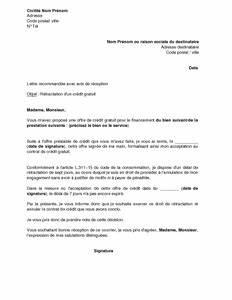 Remboursement Assurance Emprunteur Lettre Type : lettre de r tractation d 39 un cr dit gratuit mod le de ~ Gottalentnigeria.com Avis de Voitures