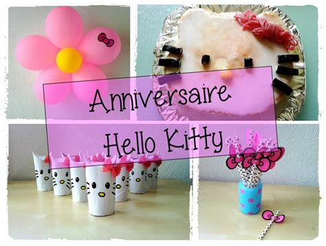 decoration anniversaire hello anniversaire 2 ans anya th 232 me hello mes humeurs cr 233 atives by flo