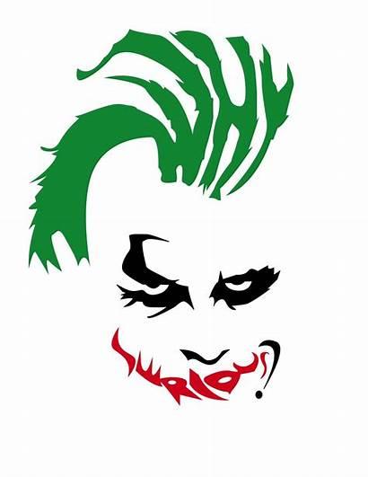 Joker Serious Why Clipart Knight Dark Svg