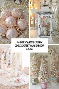 44 Delicate Shabby Chic Christmas Décor Ideas