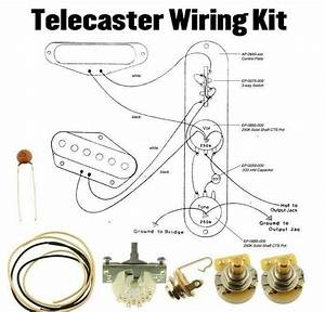 Telecaster Wiring Kit Cts 250k Crl Switch  033 Cloth Wire