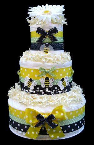 bumble bee diaper cake baby shower centerpiece nursery gift