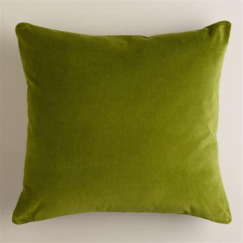 green throw pillows calla green velvet throw pillows world market